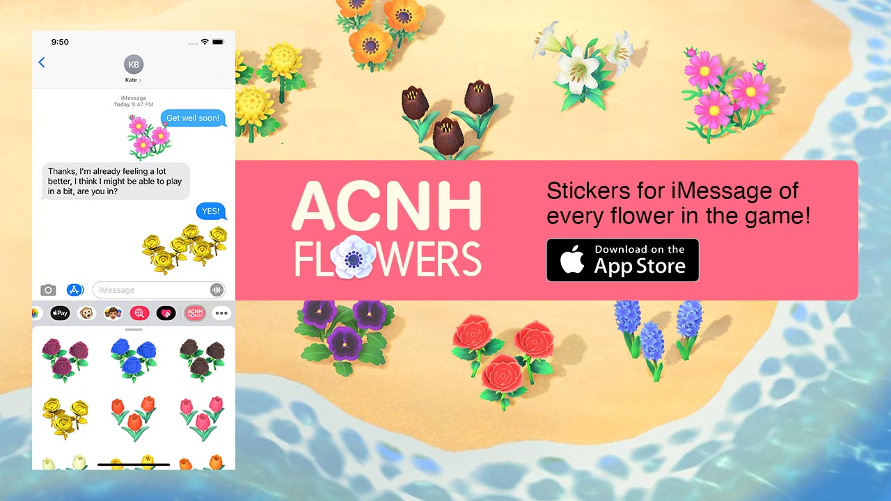(ACNH Flowers — Stickers for iMessage)
