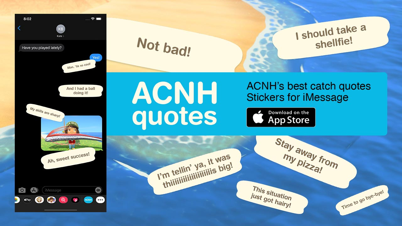 (ACNH Quotes — Stickers for iMessage)