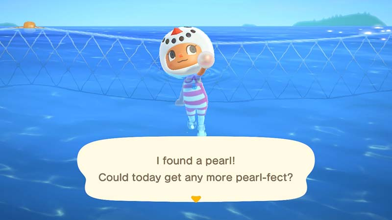 (Animal Crossing NH Finding a Pearl Image)