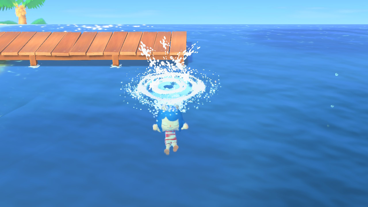 (Animal Crossing NH Diving Image)