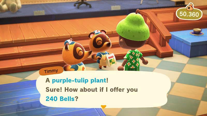 (Selling Flower Plants in Animal Crossing NH)